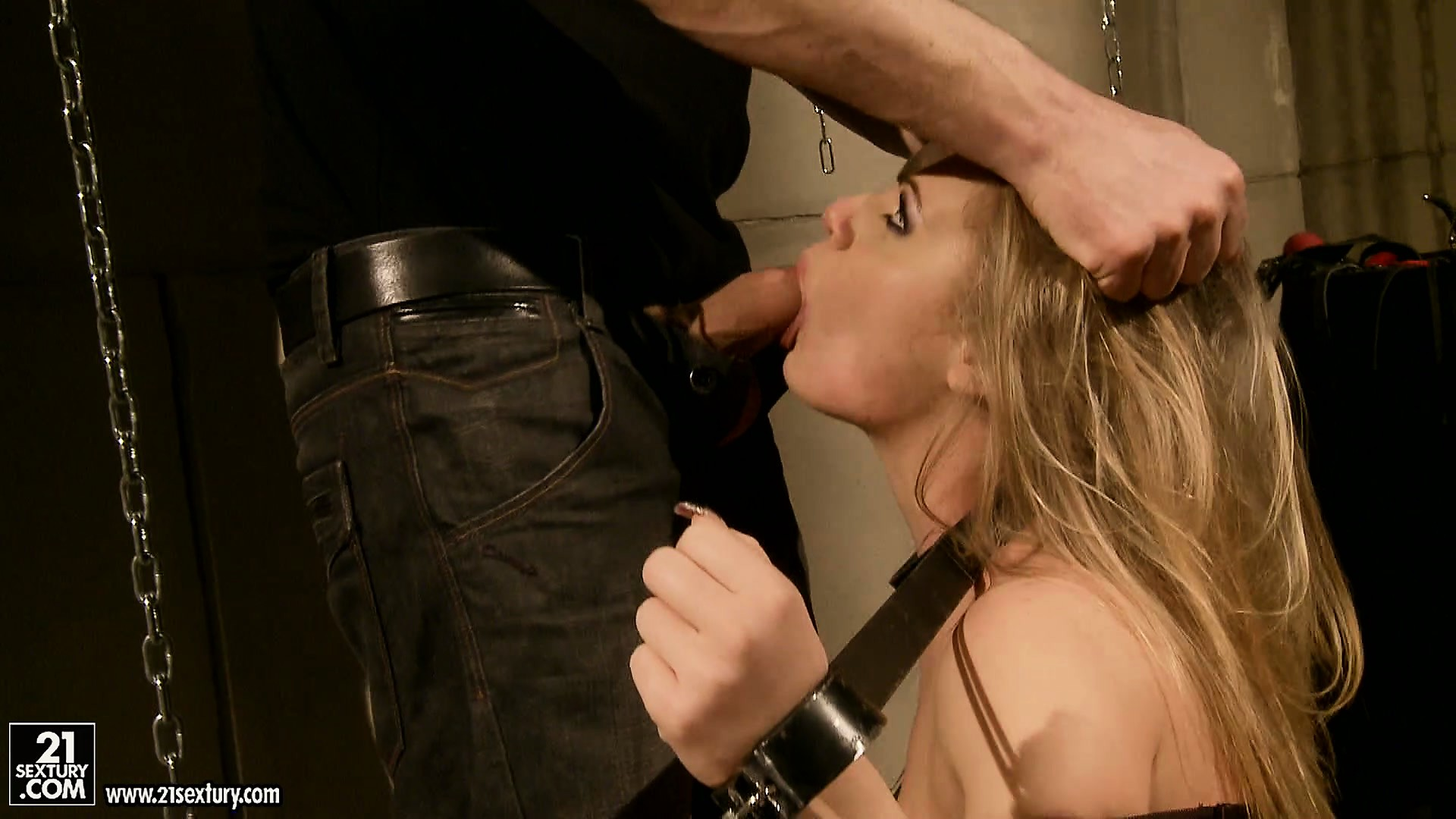 Porno Video of Her Master Gets Her Mouth Ready To Take His Cock To The Base