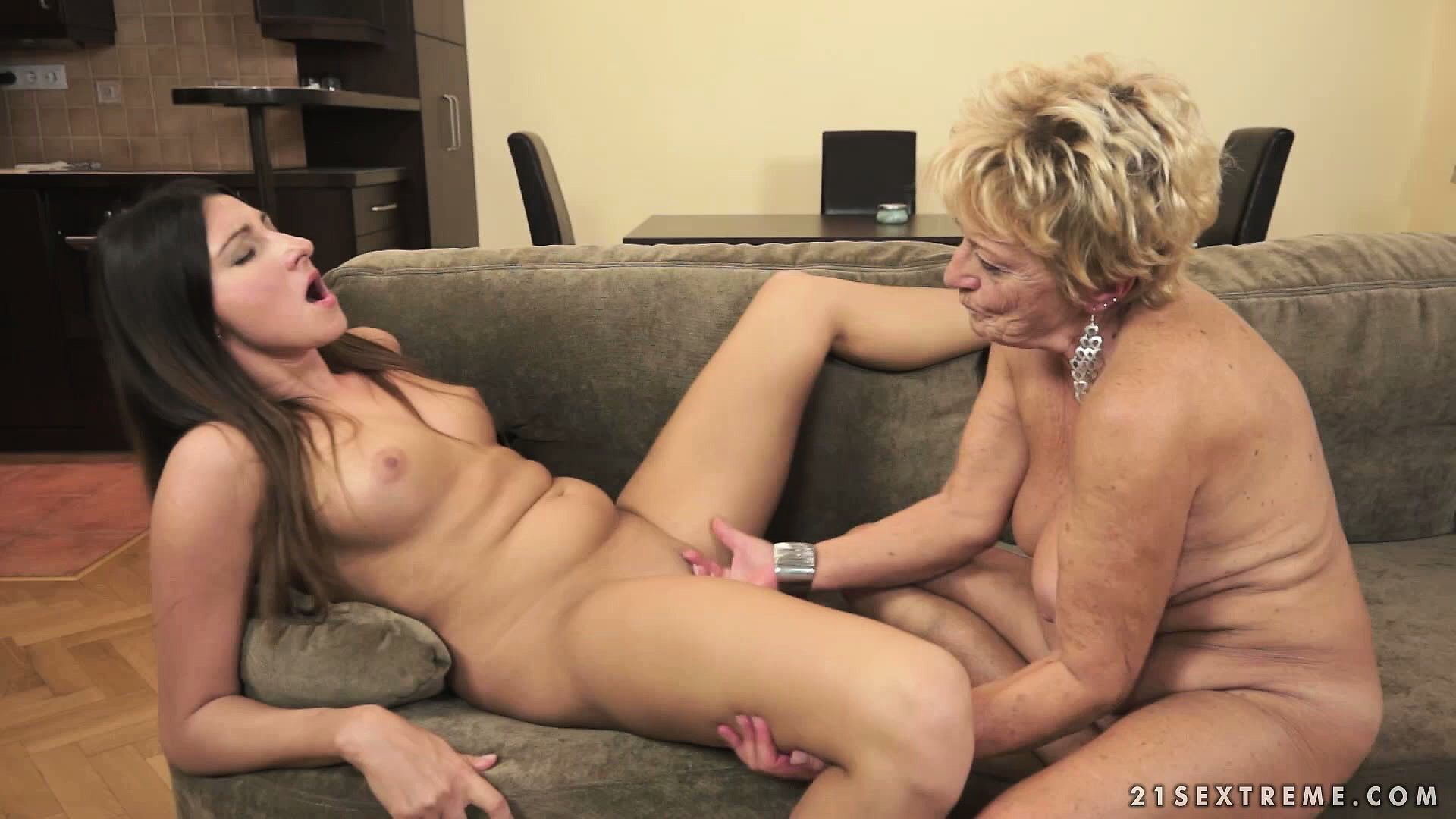 Sex Movie of Granny Will Show This Young Lezzo What Good Pussy Licking Is All About