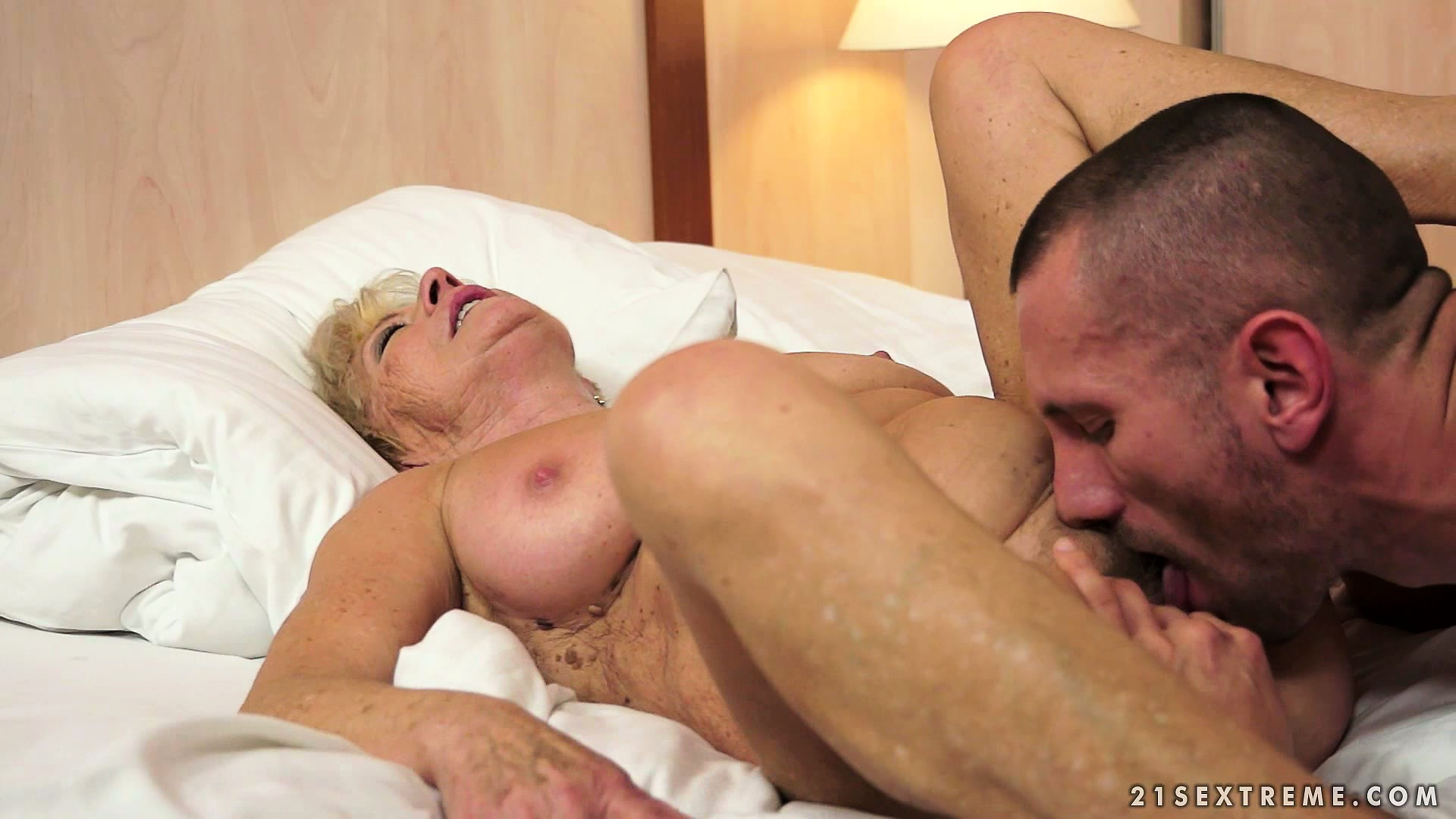 Porno Video of Young Cock Pushed Into This Granny's Cunt Will Make Her Yell