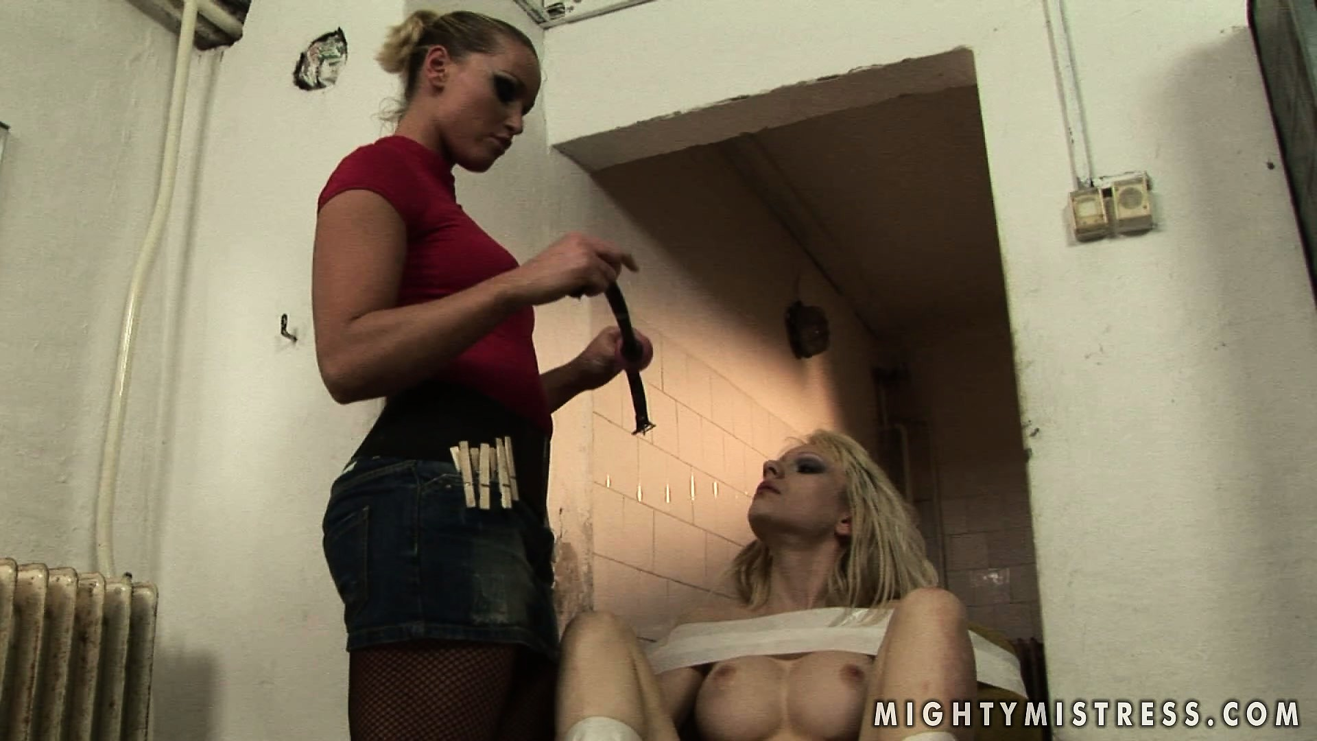 Porn Tube of Gorgeous Blonde Broad Gets Her Sexy Ass Flogged By Her Mistress