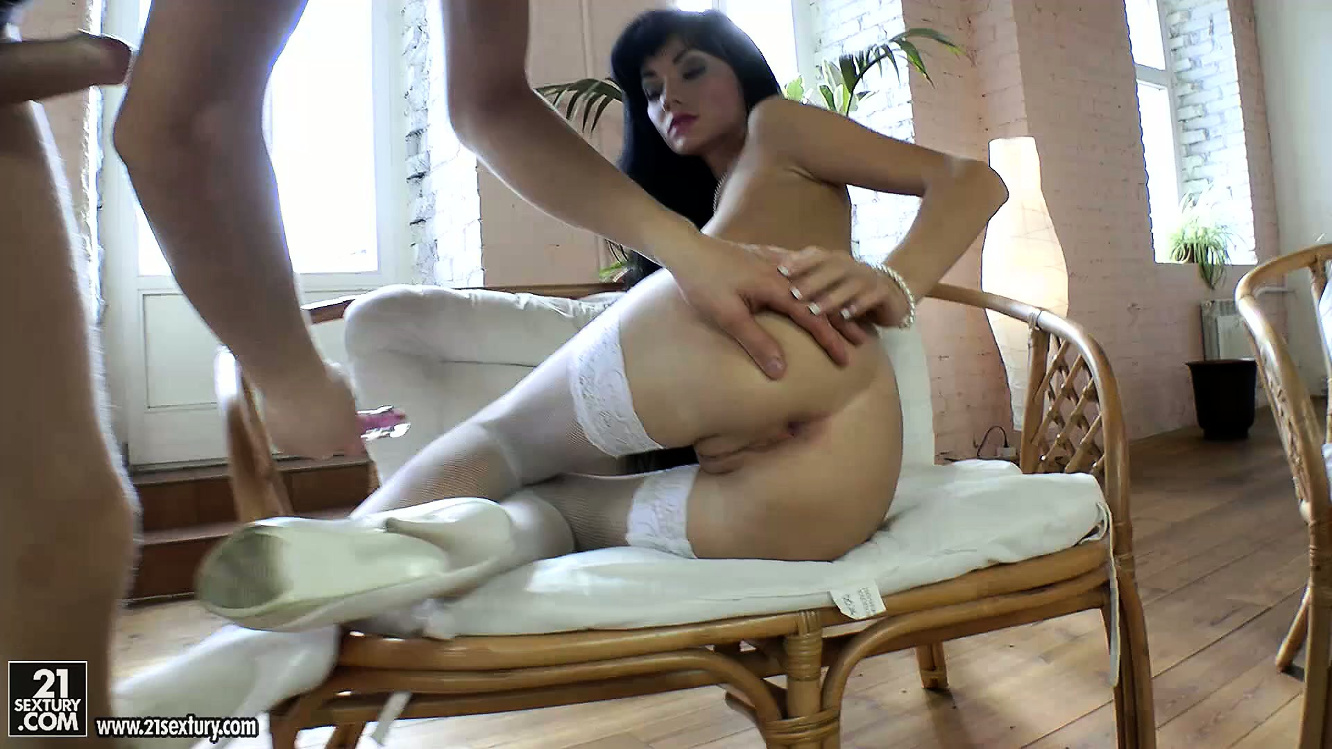 Porno Video of Black Haired Beauties Are Tight Till They Get Stretched Out With Toys And Cocks
