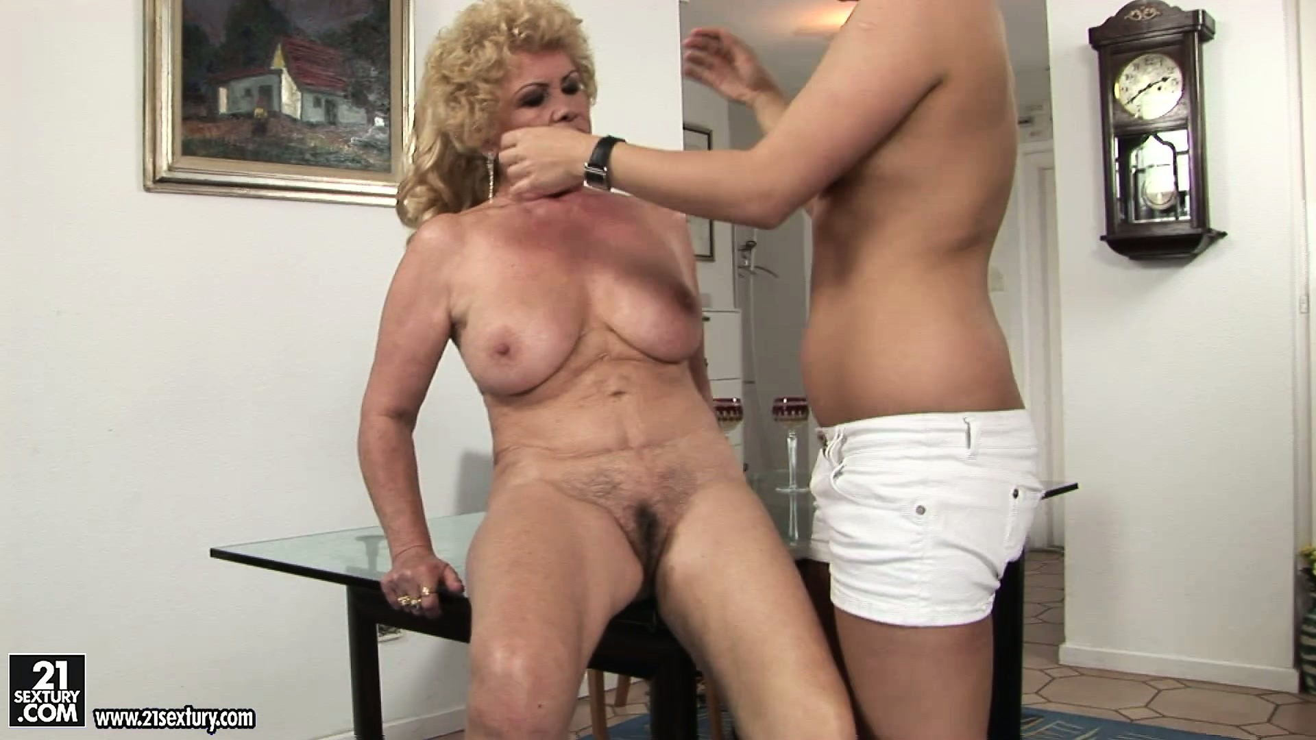 Sex Movie of Fat Lesbian Grandma Gets Eaten Out By A Young Carpet Muncher