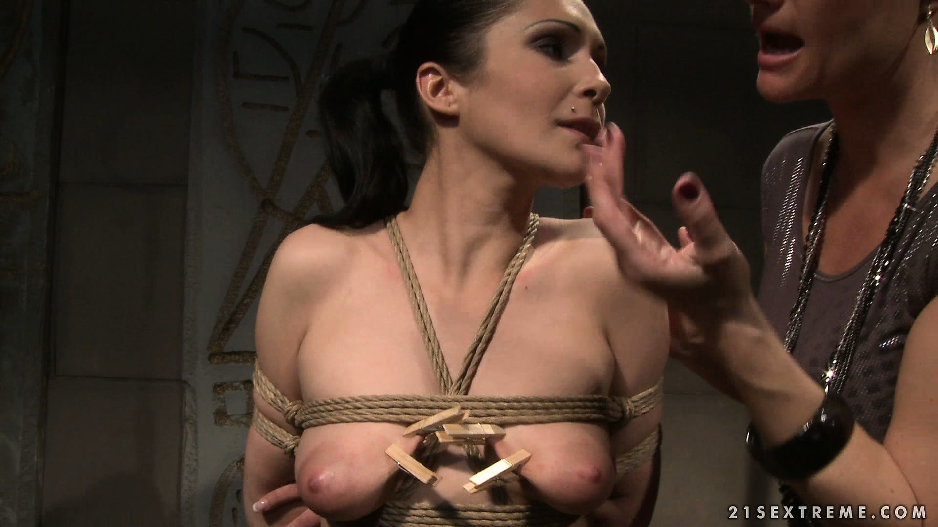 Porno Video of Katy Puts Clothespins All Over Carrmen And Tweaks Her Nipples