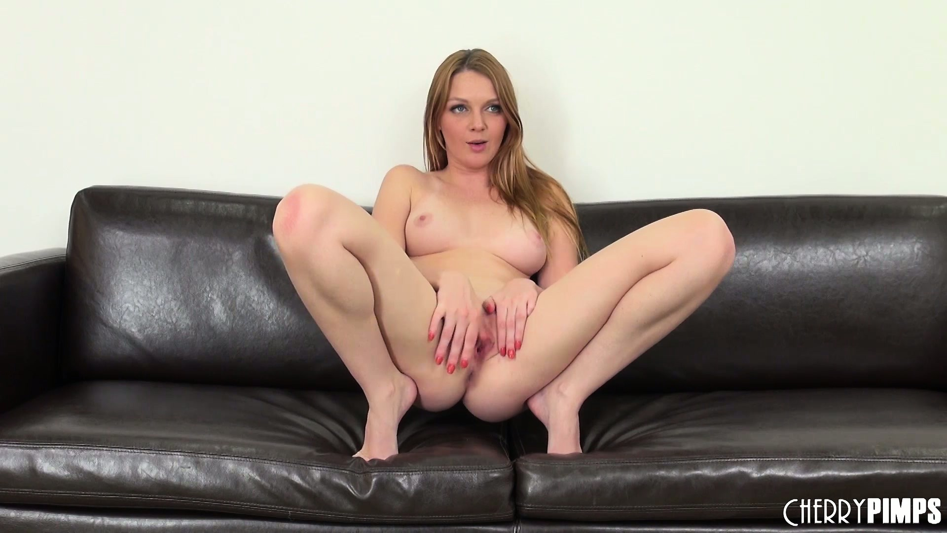 Porno Video of Lying On The Couch, Marie Fingers Her Tight Pussy And Her Excitement Grows Stronger
