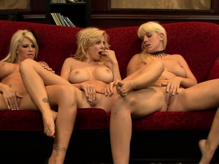 brooke haven and her lustful friends hook up for a lesbian threesome