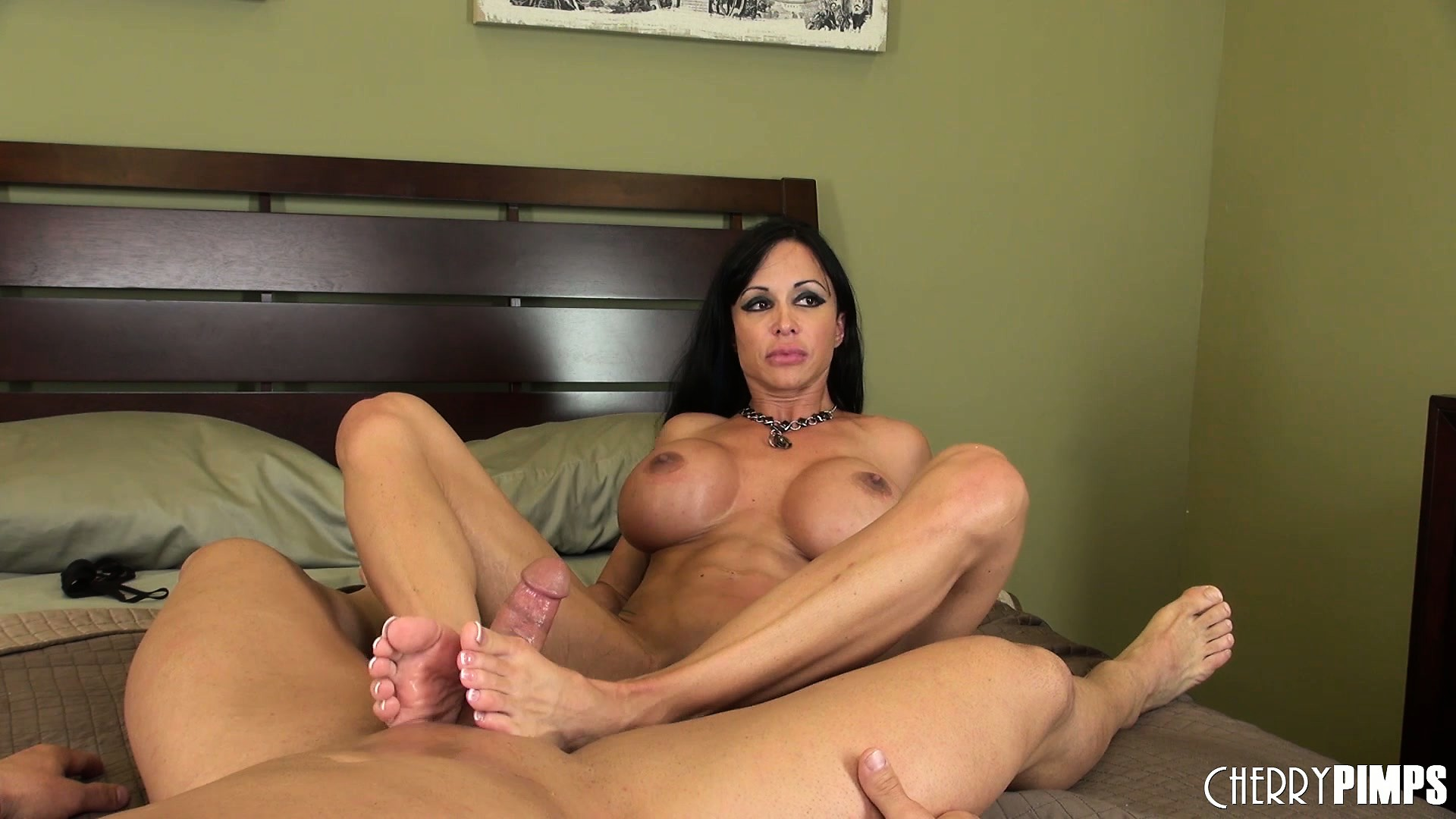 Porno Video of Jewels Jade Rides On Her Lover And Gives Him A Great Footjob