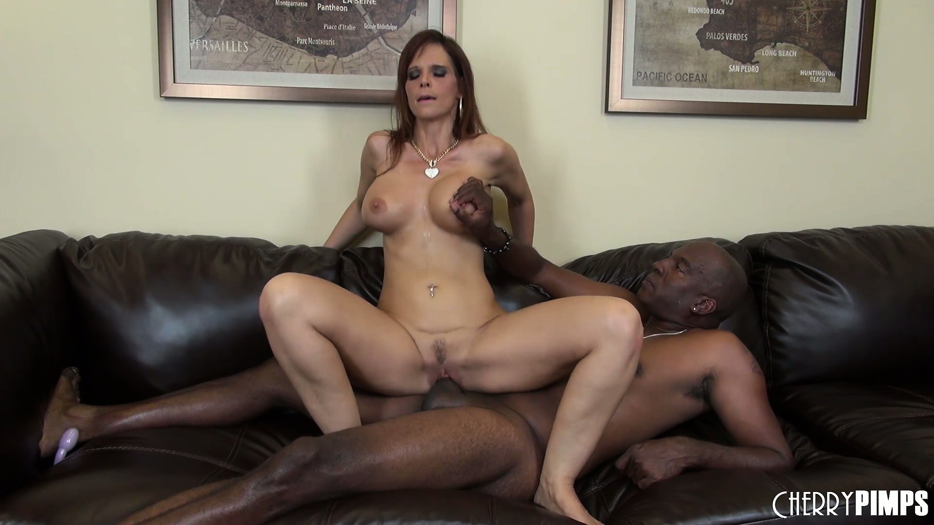 Porno Video of Redheaded Milf Syren De Mer Takes His Big Black Dick Deep In Her Wet Snatch