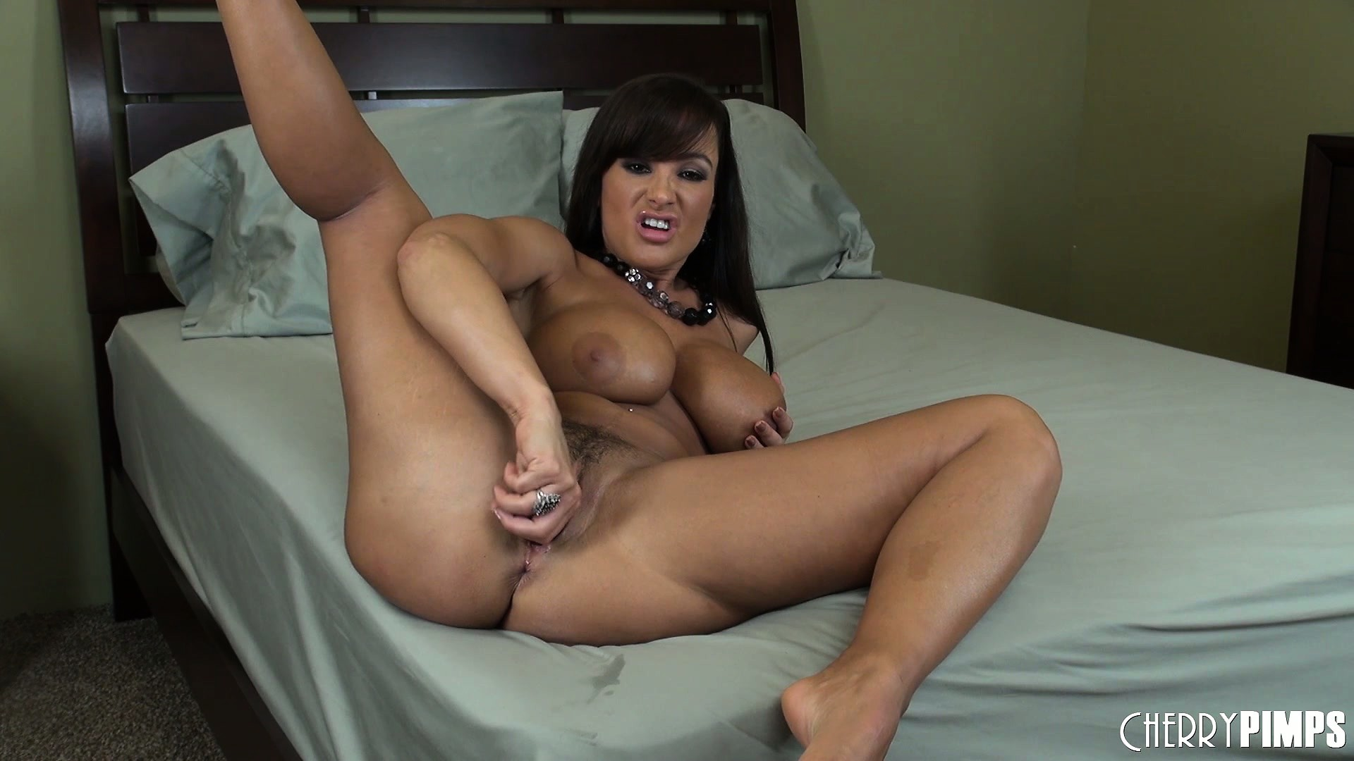 Porn Tube of Lisa Ann Wants You To Have A Good View And Spreads Her Legs Wide