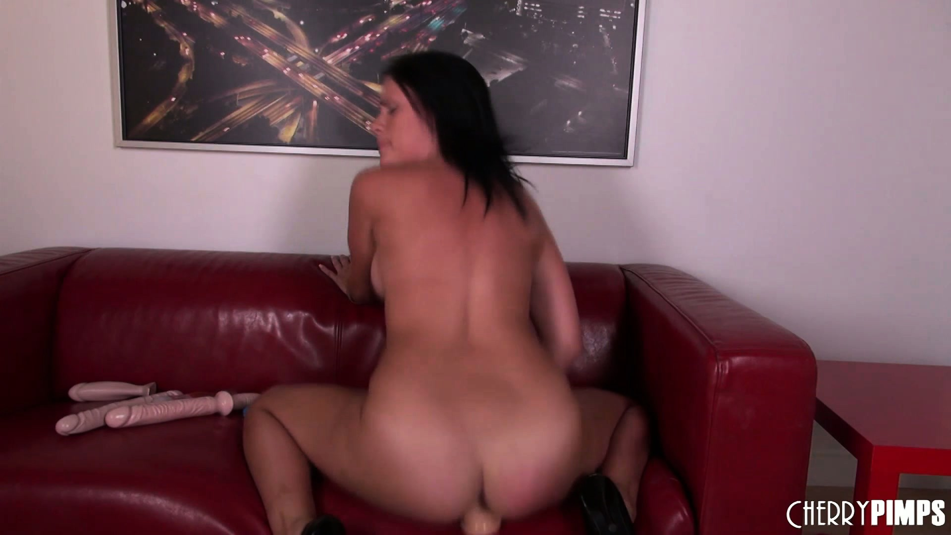 Sex Movie of Sexy Ashli Ames Riding Her Fake Cock Moaning Herself To Orgasm