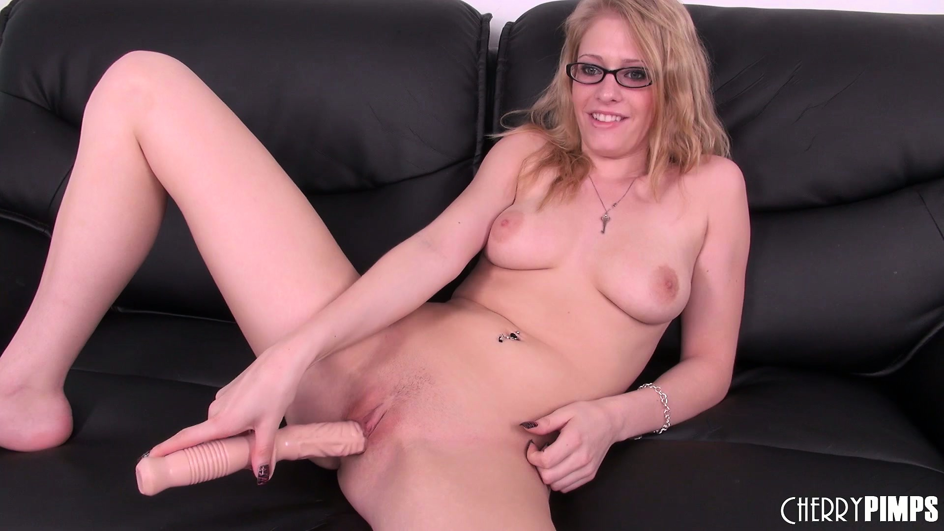 Porno Video of Fun Blonde Allie James Has A Couple Of Dildos She Uses On Her Snatch