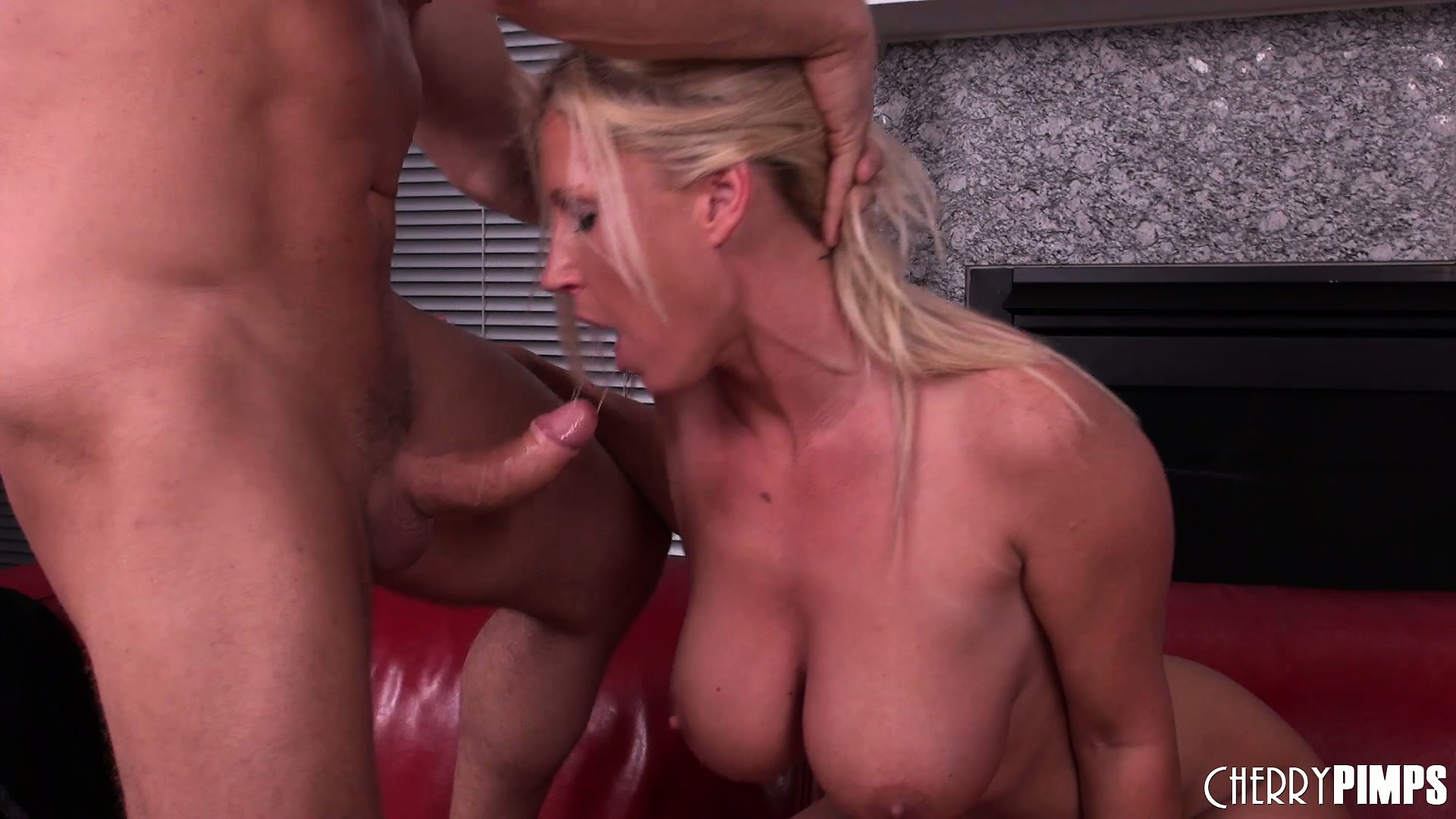Porno Video of Busty Blonde Chick Devon Lee Dares To Suck His Crooked Cock And Gets Nailed
