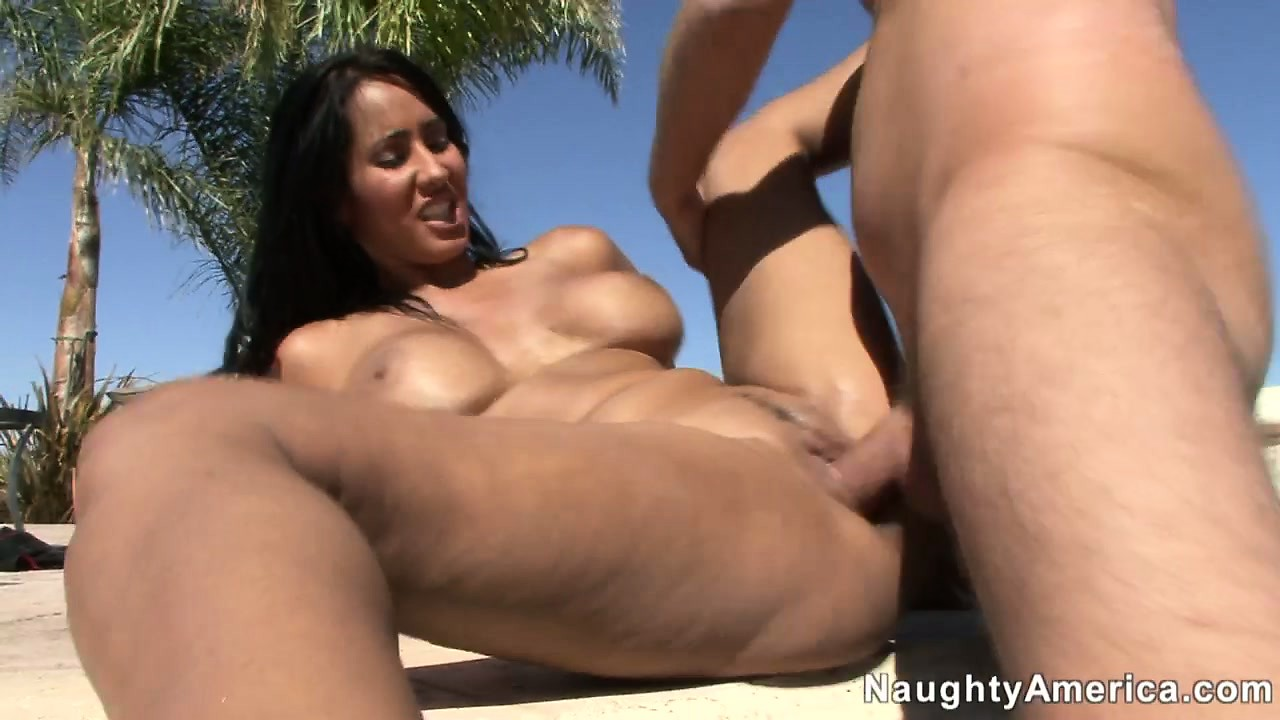 Porno Video of Sexy Brunette Slut Gets Shafted Balls Deep By The Side Of The Pool