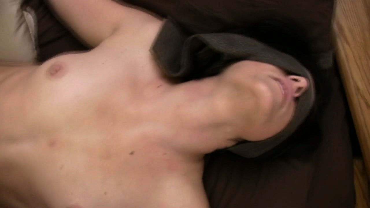 Porn Tube of Sexy Girl With Cute Tits Charli Lies Blindfolded On The Bed While He Fingers Her Twat