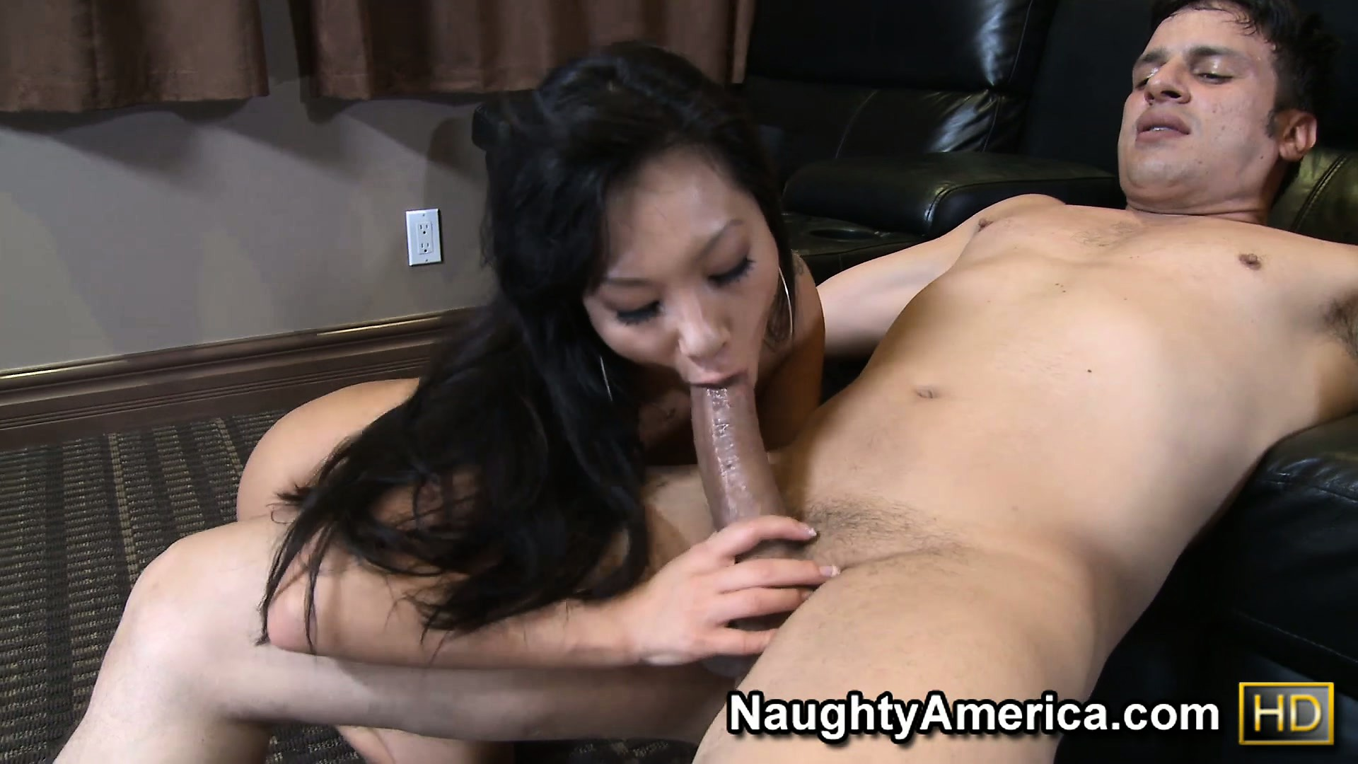 Porno Video of Asa Akira Breaks A Sweat Taming Her Co-star's Mighty Schlong