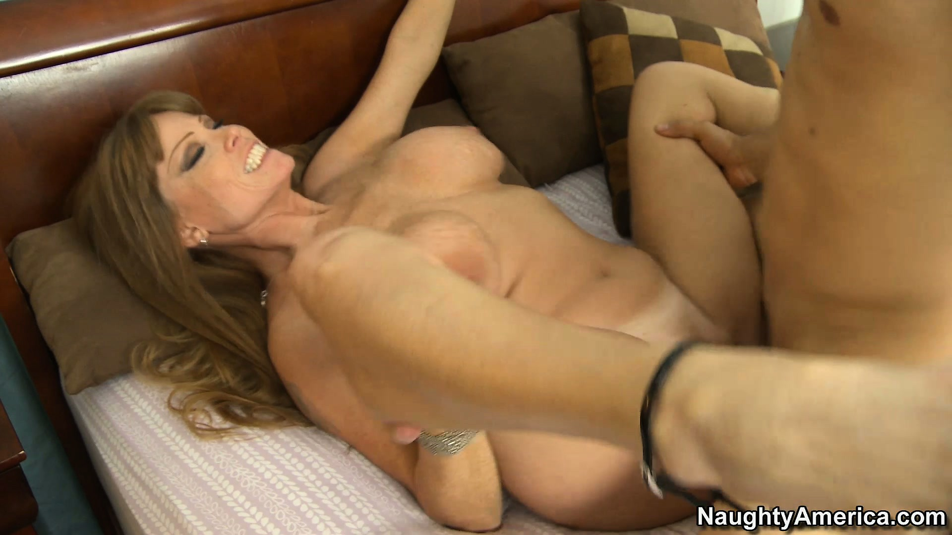 Porn Tube of Nasty Mom Darla Crane Gets A Tongue Dance On Her Vagina Then He Bangs Her