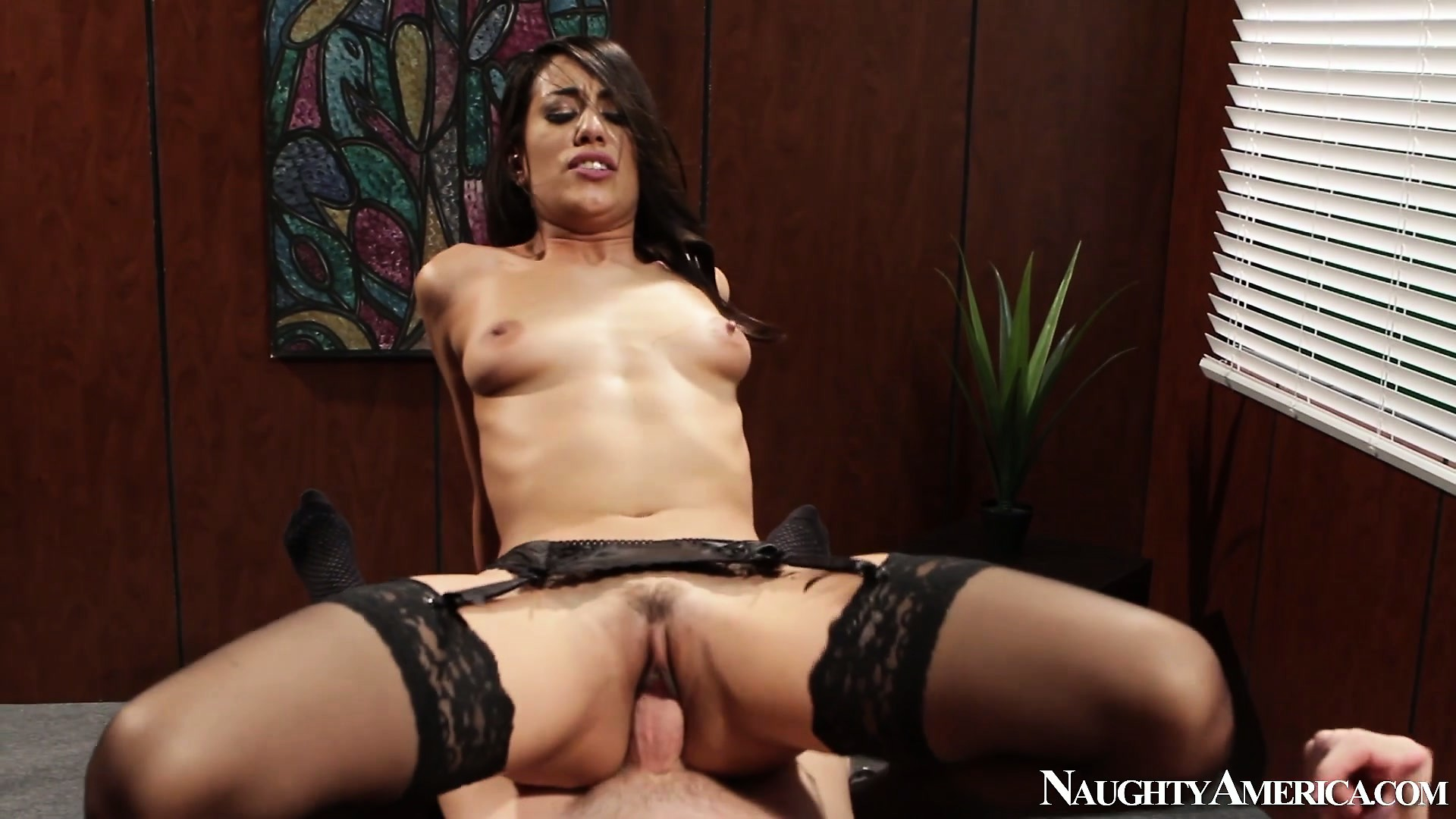 Porno Video of Hot Latina Babe Lyla Storm Gets Drilled Deep In Her Twat On The Desk