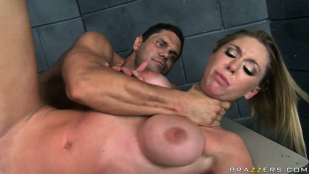 Sex Movie of Lady Cop With Big Hooters Fucks And Then Gets A Load On Her Tits
