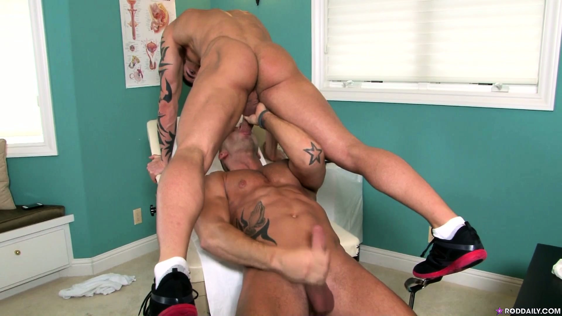 Porn Tube of The Patient Licks The Doctor's Ass And Then Gets His Face Fucked