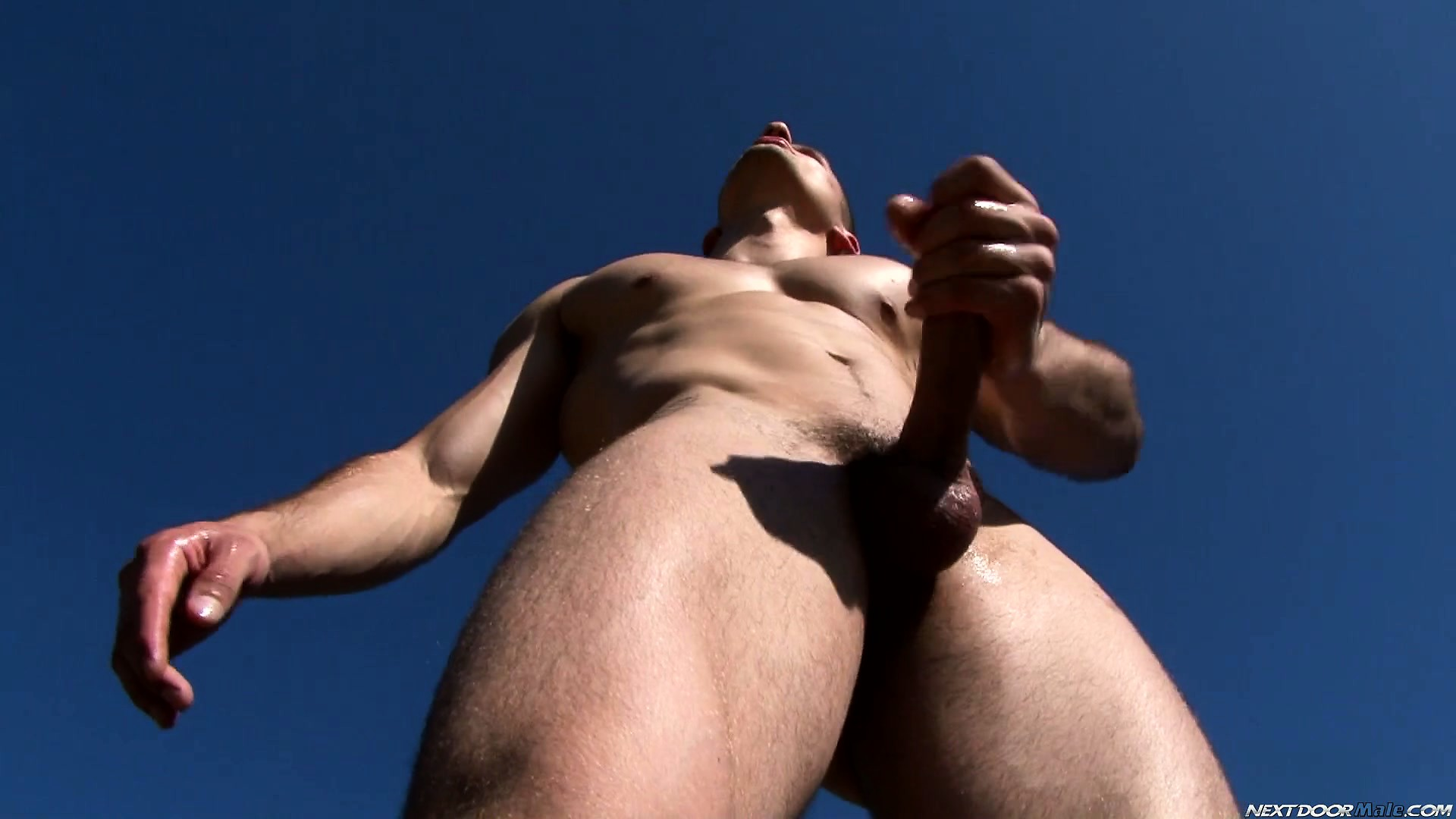 Porno Video of Muscular And Aroused Jack Is Having Fun With His Own Butt Hole And Long Prick