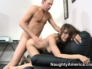 naughty hottie lexi bloom gets banged in a hot doggy style pose