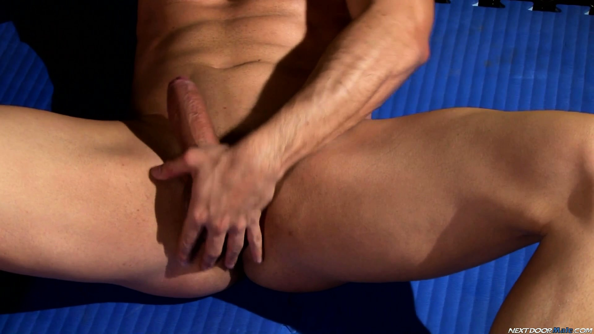 Porno Video of Will Sits On The Floor Jerking His Huge Shaft On His Way To Drive It To Orgasm