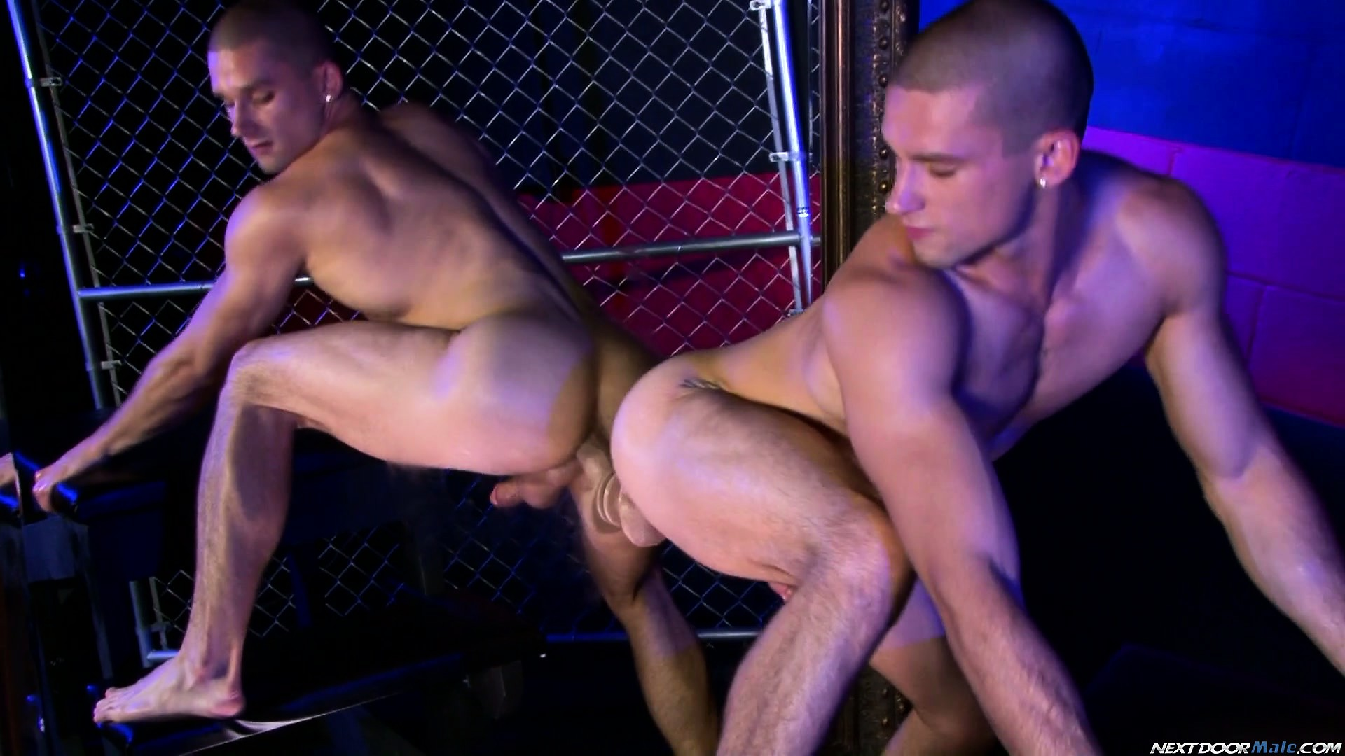 Porno Video of Anthony Romero And His Partner Get Their Asses Bored Simultaneously