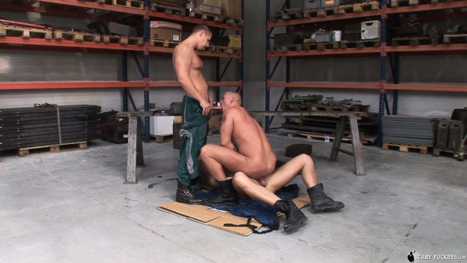 Porno Video of Chris Hacker, Mickey A And Zsolt Xl Make A Fine Gay Threesome In The Garage
