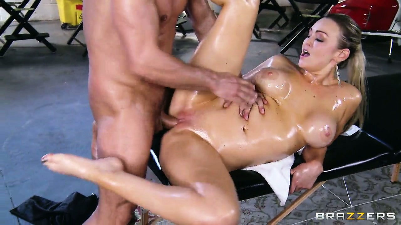 Porn Tube of Yummy Girl's Body Is Completely Covered With Oil, Which Impresses Her Bonker
