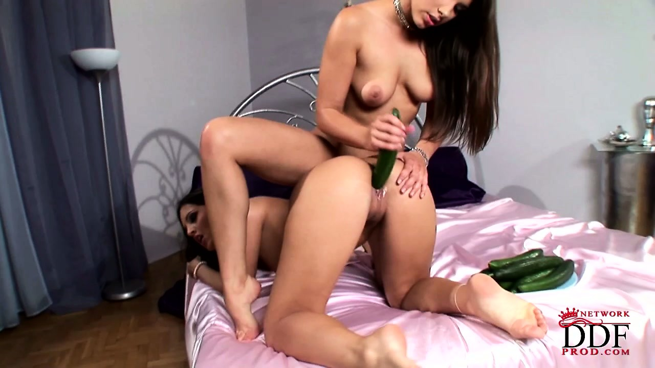 Porno Video of Zafira And Her Lesbian Girlfriend Getting Kinky During Some Veggie Fucking