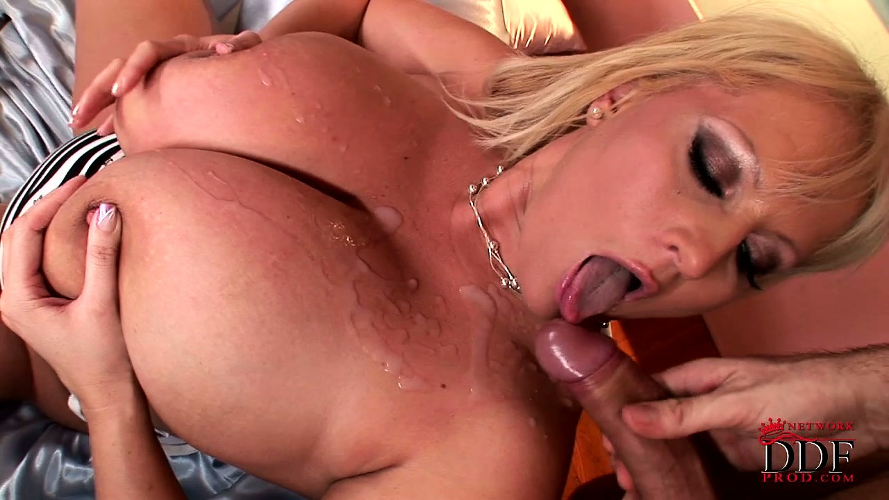 Porno Video of Busty Blonde Babe Gets Her Chubby Tits Covered In A Load Of Jizz