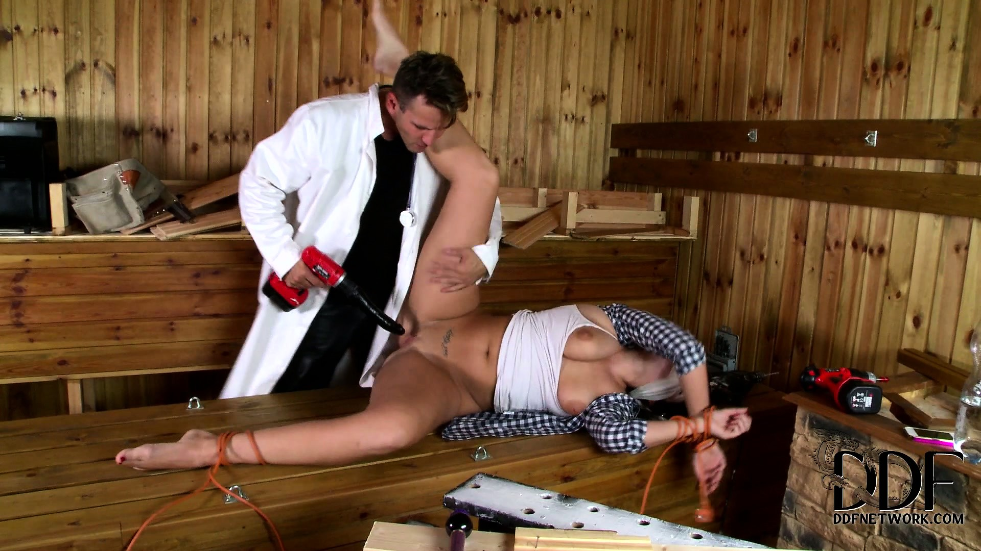 Porn Tube of Fucking Machine Never Fail To Revive This Perverted Doctor's Sexy Patients
