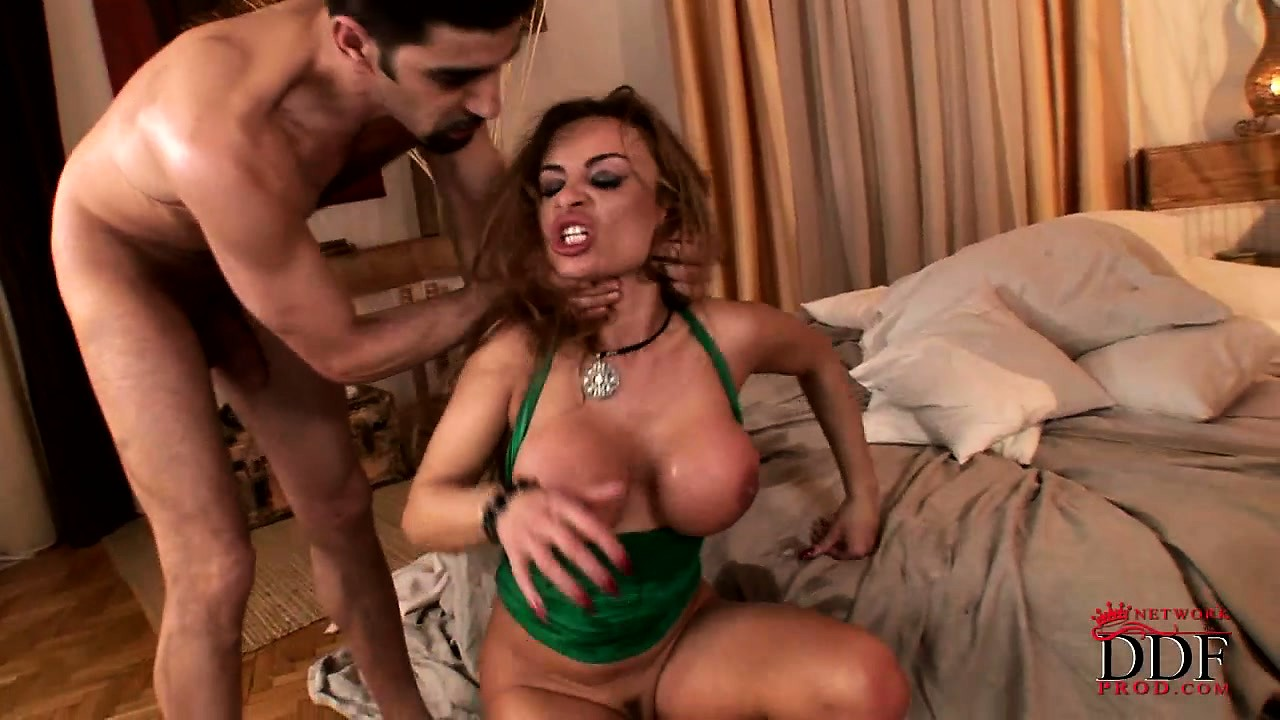 Porn Tube of Busty Bitch Copes With Three Cocks At Once And Squirts Like A Garden Hose