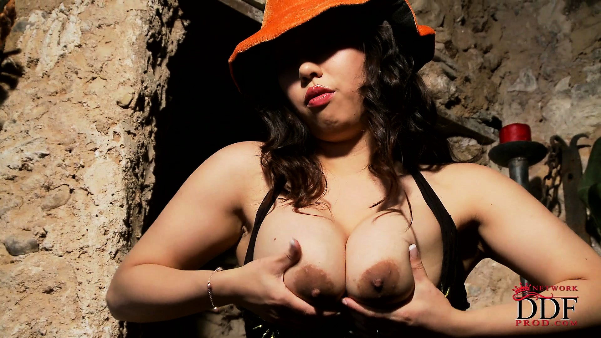 Porn Tube of Wicked Asian Halloween Witch Escapes From Bondage And Plays With Herself