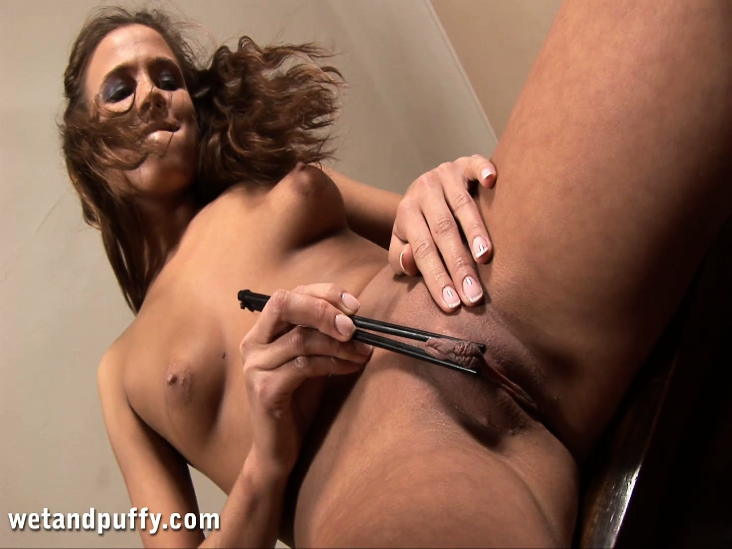 Porn Tube of Abby Comes Up With A New Use For Her Chopsticks, Her Pussy Loves It