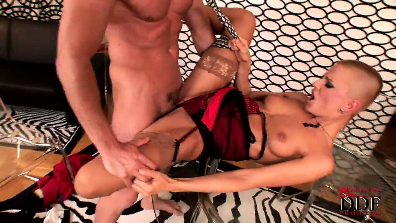 Porno Video of Slut With A Shaved Head Gets Her Tiny Cunt Eaten Out And Wrecked