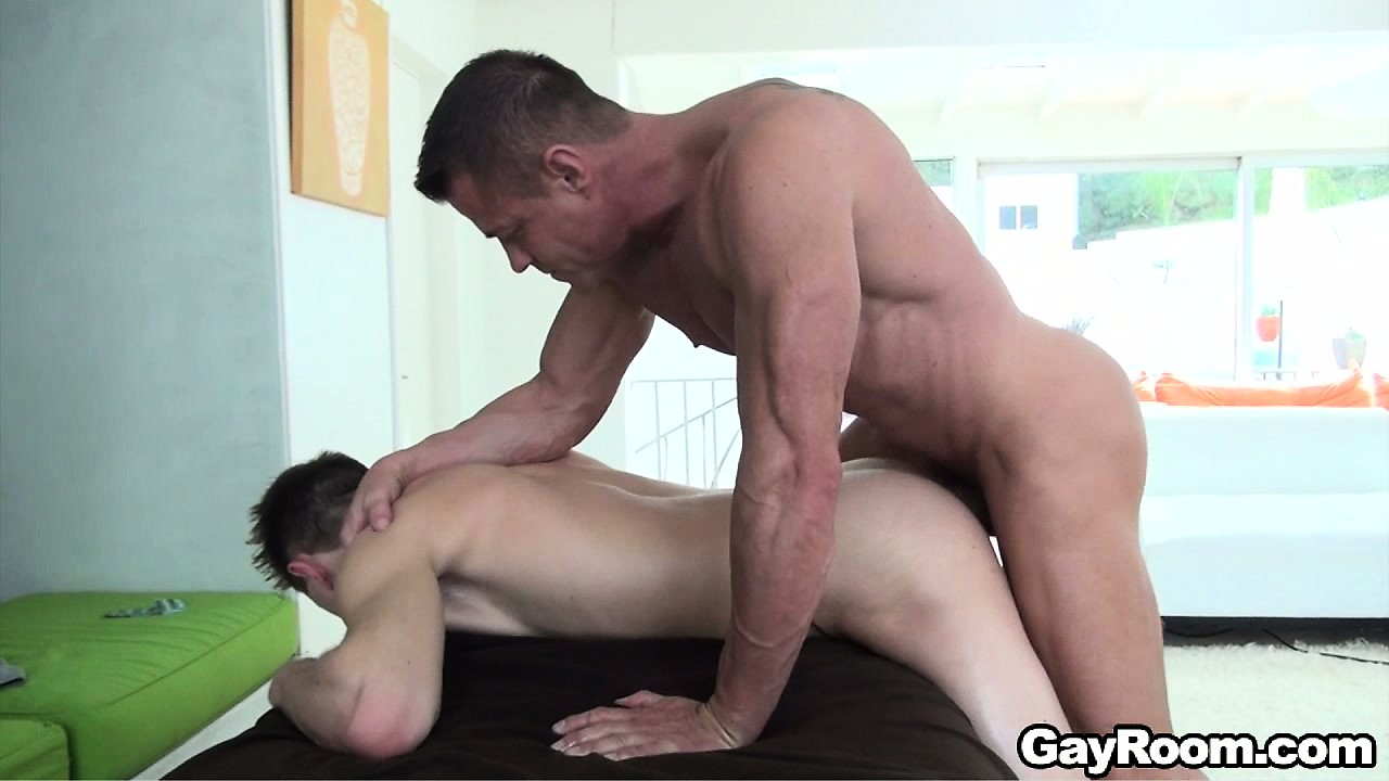 Sex Movie of Bending Over The Massage Bed, He Allows Him To Drill His Ass From Behind