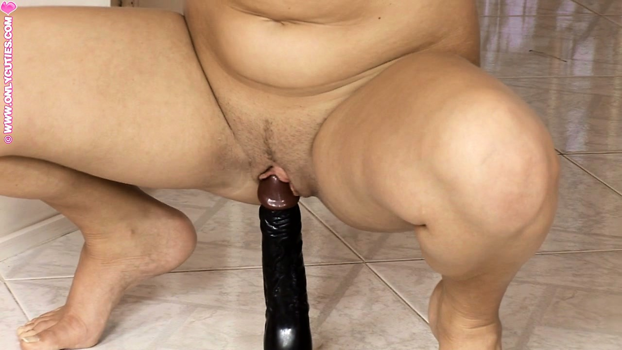 Porn Tube of Skinny Blonde Gets Her Pussy Ready To Perform A Rough Insertion