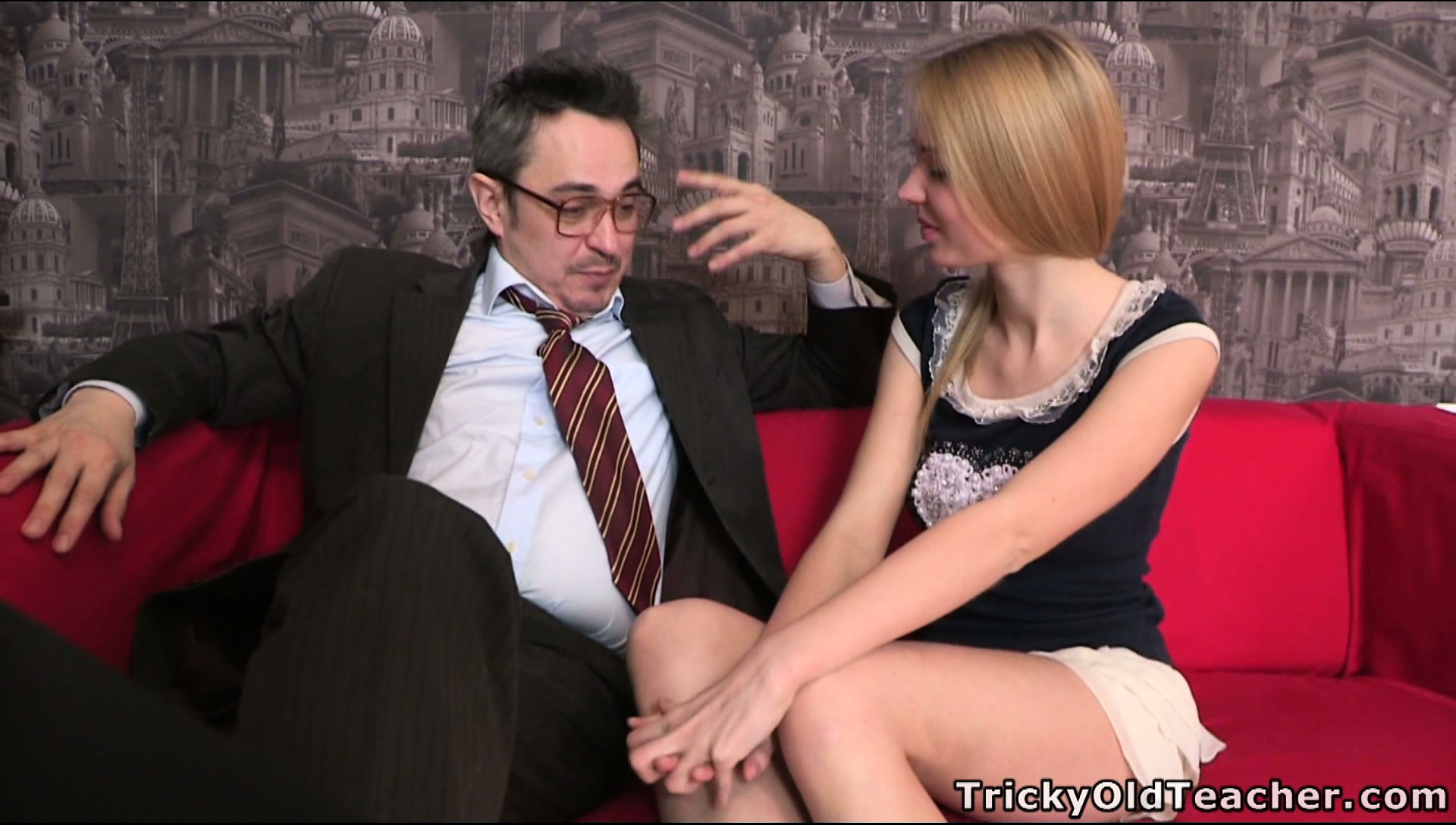 Porno Video of Sightly And Slender Blonde Mary Is Seduced By Old And Dirty Lecher