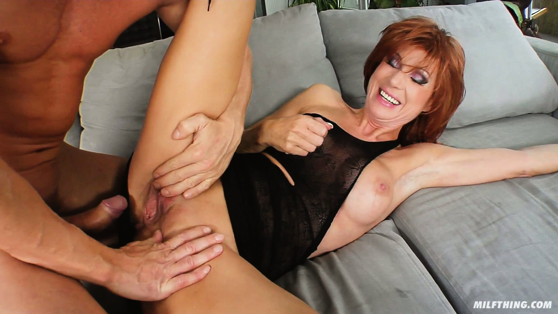 Porno Video of Hot Milf Nina S Lifts Up Her Little Black Dress So He Can Fuck Her
