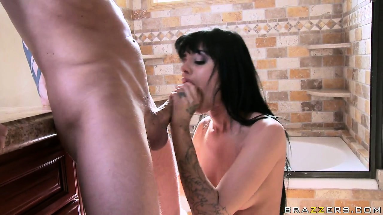 Porn Tube of Skinny Brunette With Dark Hair And Tattoos Mounts Up A Big Cock