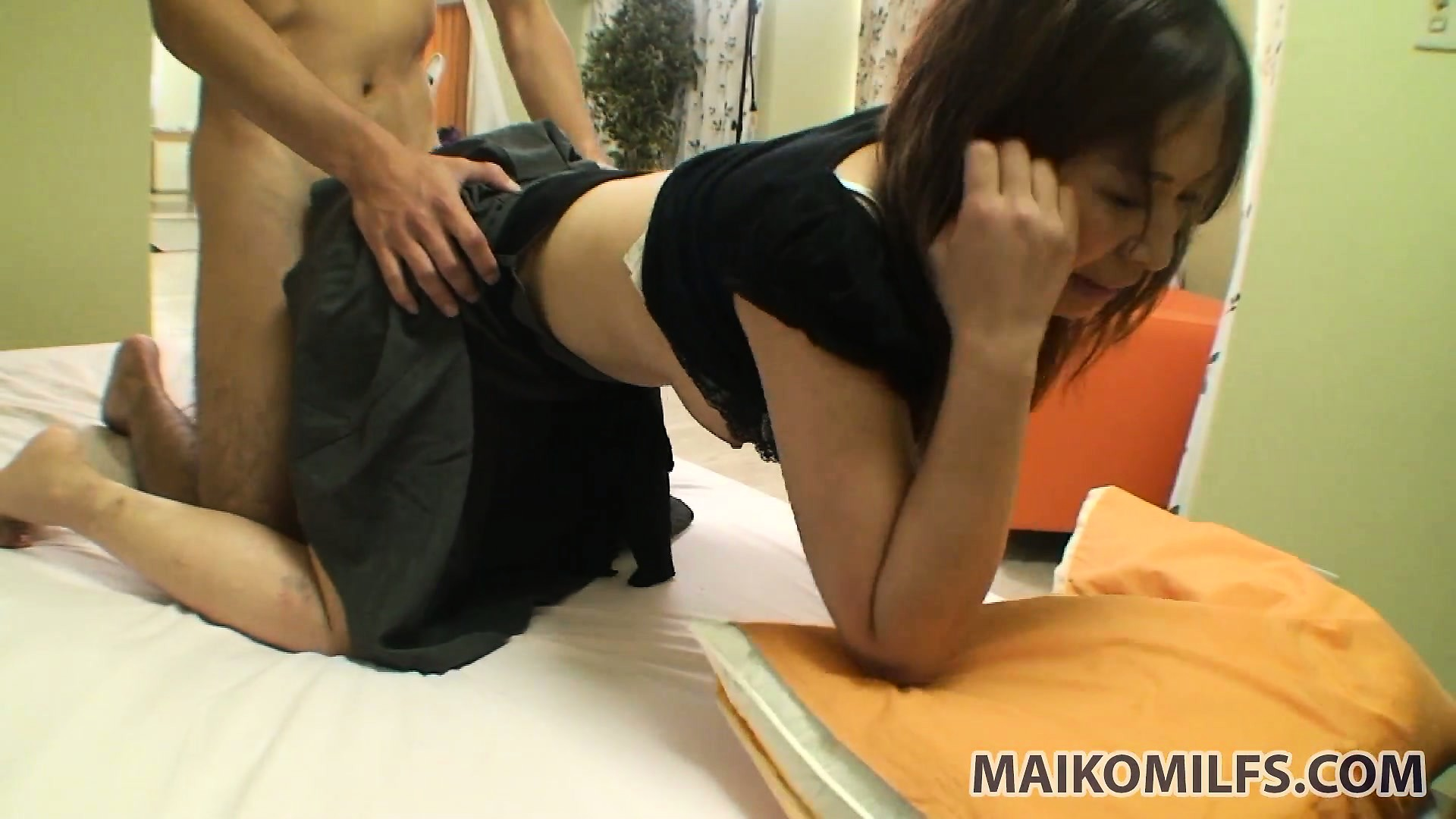 Porn Tube of Pulling A Lovely Asian Chick's Skirt Up And Plowing Her Fresh Snatch