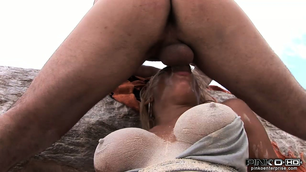 Porn Tube of Stuffing Cock, Then Fist, Then Cock Again Into Bikini Babe's Hole