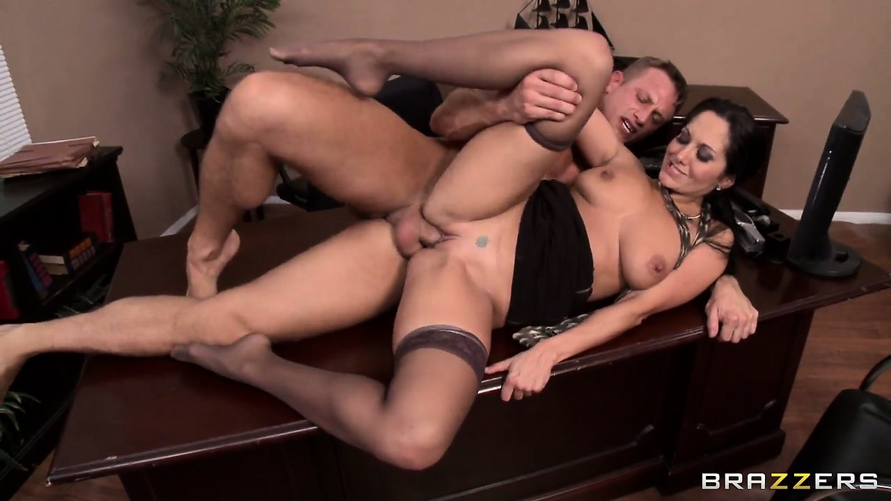 Porn Tube of Brunette Secretary Gets Her Bonus In The Form Of Her Boss's Jizz