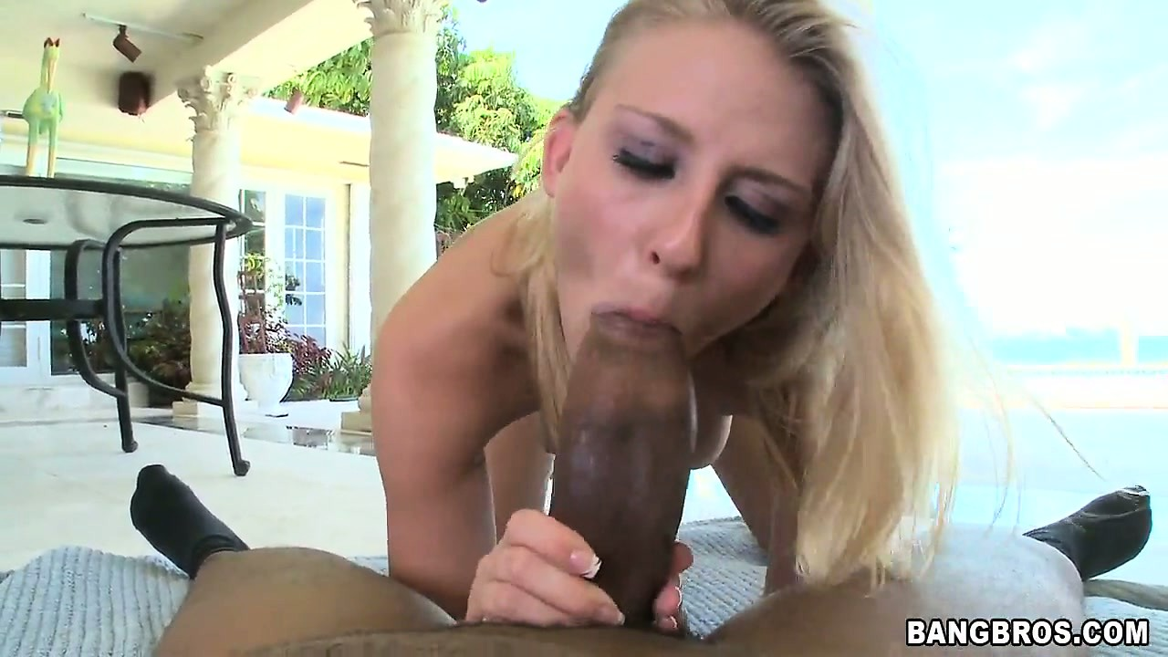 Porno Video of Slutty Blonde Chick Gets A Mouthful From A Hung Black Stallion