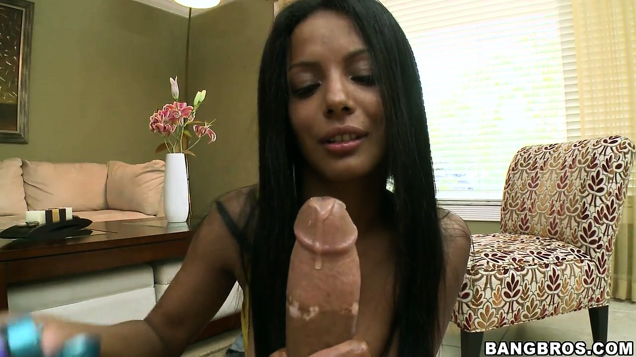 Porn Tube of Adriana Milano, A Tanned Hottie With Nice Tits, Allows Her Hands To Work Their Magic On A Cock