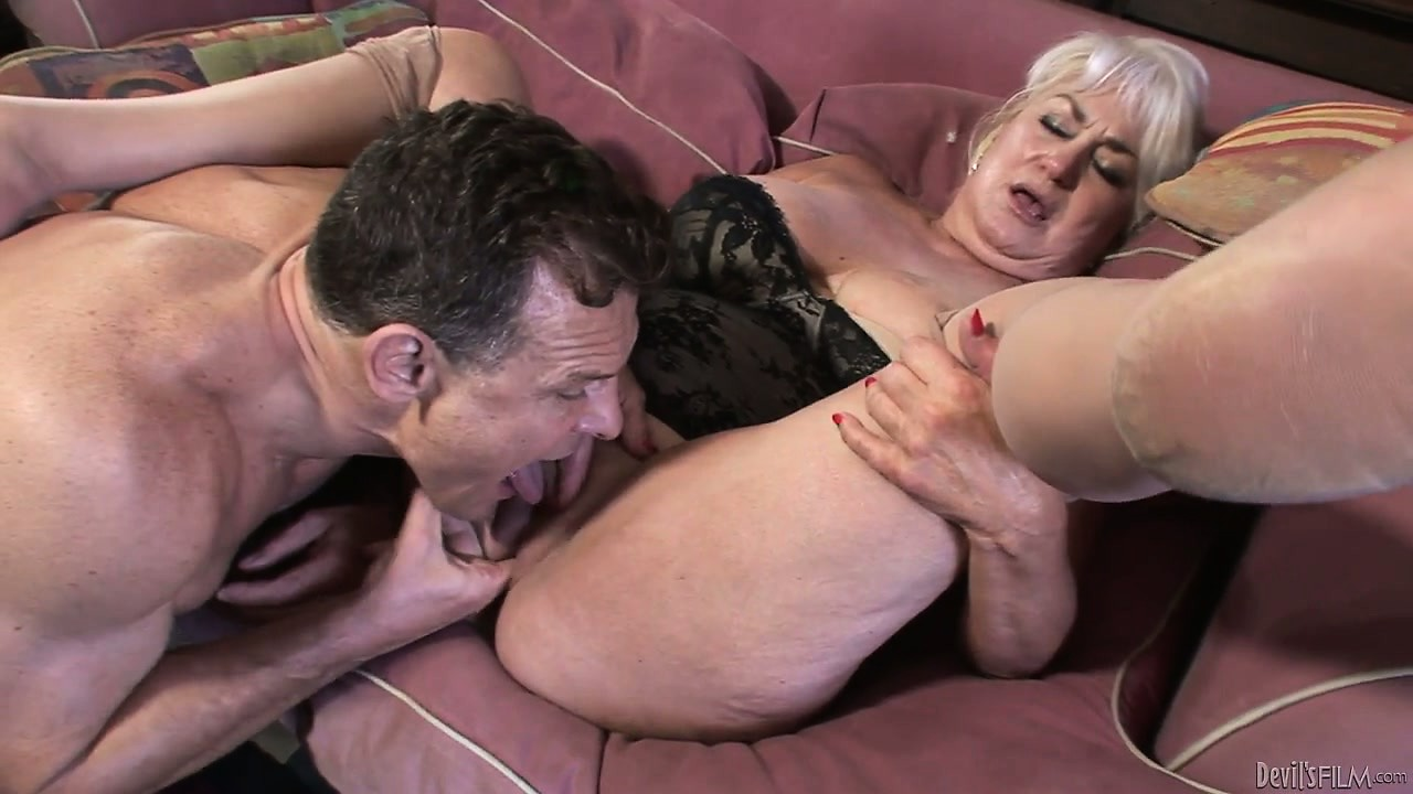 Porno Video of After Sucking Cock And Getting Her Pussy Sucked This Grandma Gets Nailed On Her Old Fur Burger