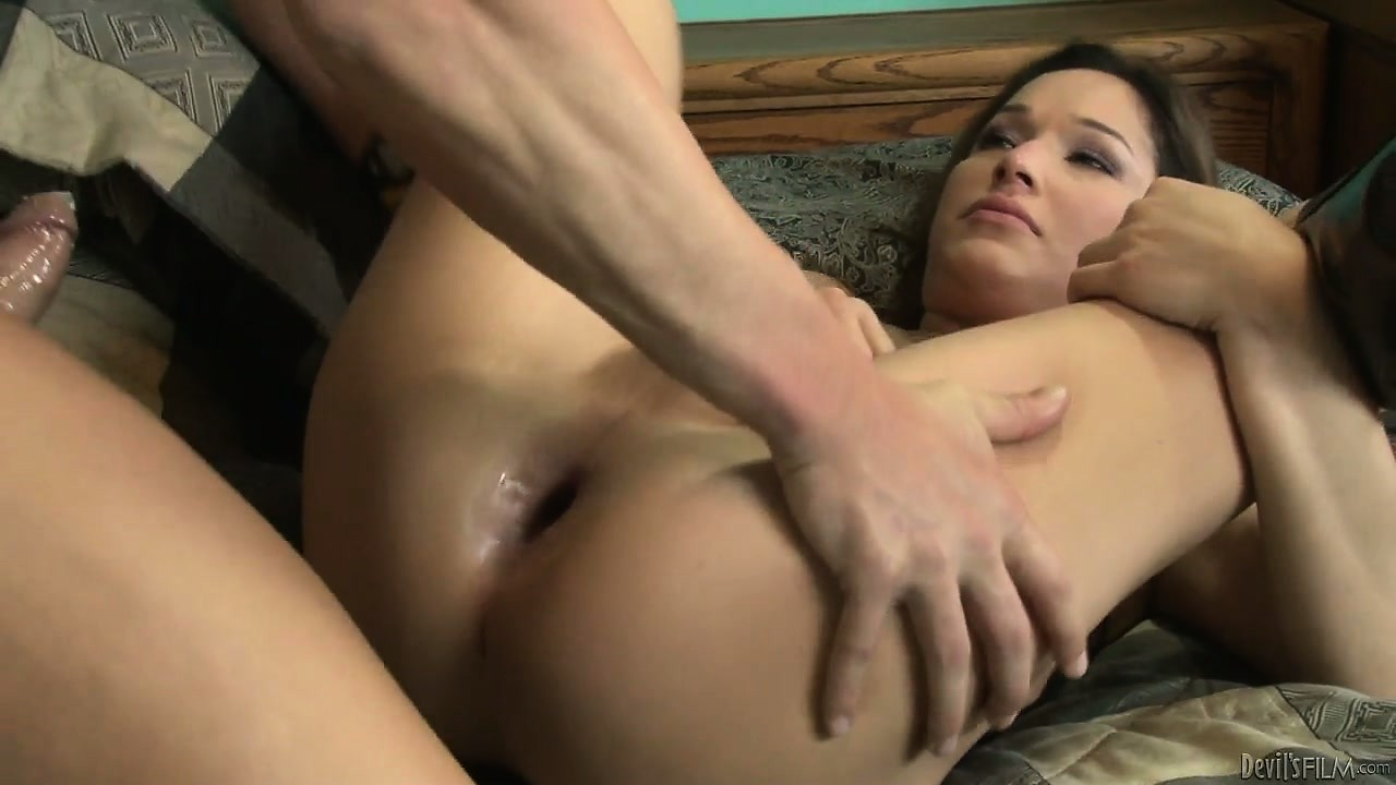 Porn Tube of Nasty Brunette Lady-boy Eager To Get Her Nice Tight Ass Hammered