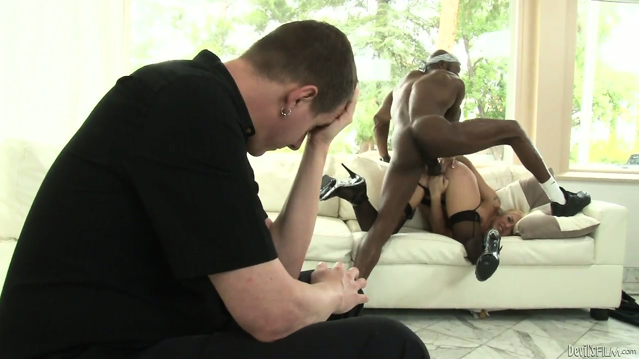 Porn Tube of Sexy Blonde Wife Cuckolds Her Man With The Help Of A Hung Thug