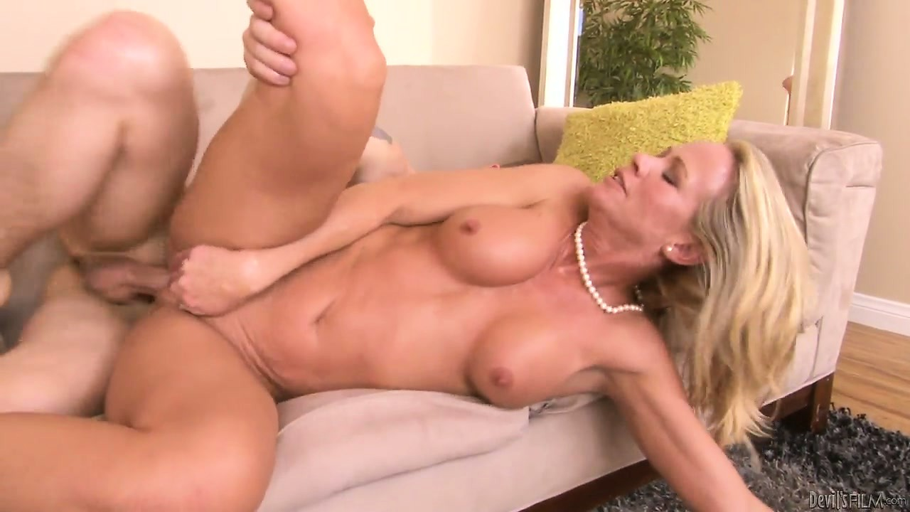 Porn Tube of Cougar Makes Herself Cum As She Rides On A Young Dude's Cock