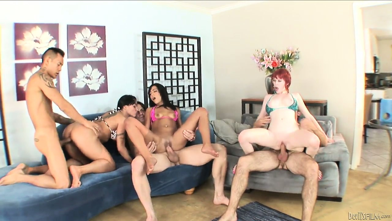 Porno Video of Mahina Zaltana, Ember James And Zoey Nixon Fucking In A Hardcore Orgy